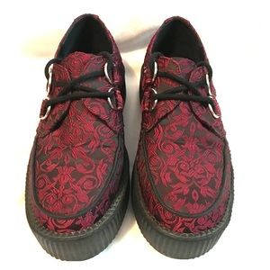 TUK Baroque Embroidered Creepers